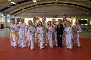 """Die Taekwondodos beim """"Dezibel-Test""""… Foto: Tim Grondstein"""